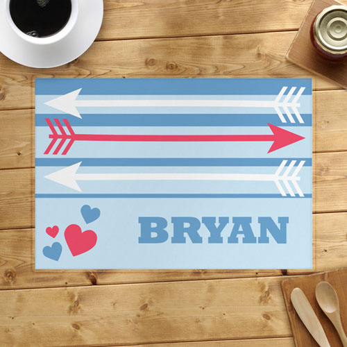 Arrow And Heart Personalized Placemat