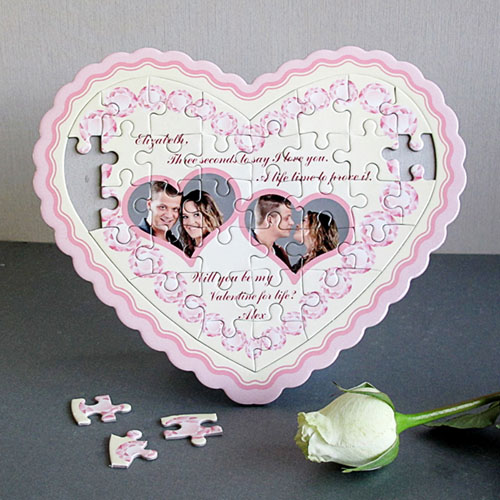 Charming Personalized Heart Shape Puzzle