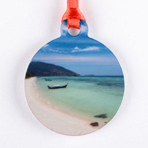 Custom Photo Mini Ornament Holiday Set Of 6 (Custom Front)