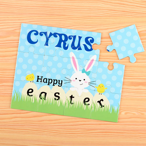 Happy Easter Personalized Kids Puzzle