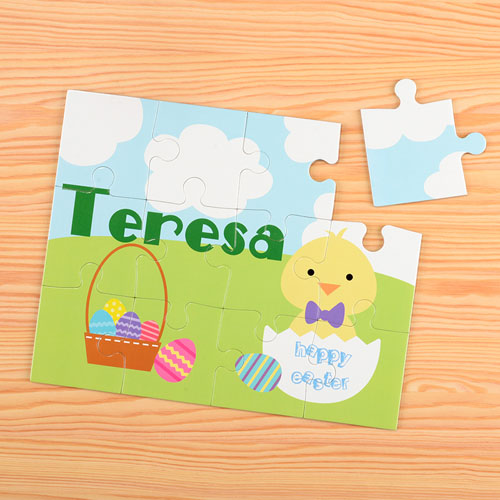 Easter Chick Personalized Kids Puzzle