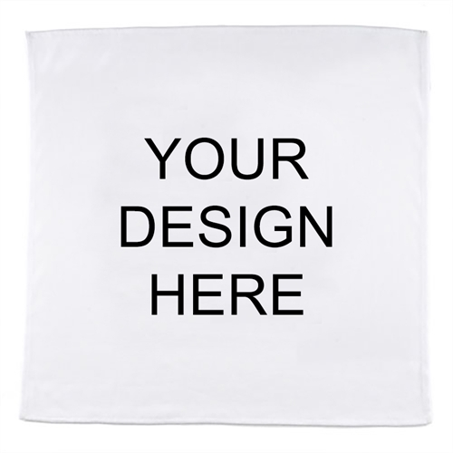 Custom Imprint Full Color Bandana Handkerchief, 14X14 Inch