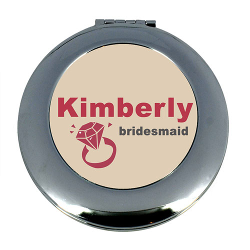 Wedding Ring Personalized Mirror For Bridesmaids, Round