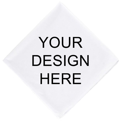 Custom Full Color Bandana With Text, 22X22 Inch