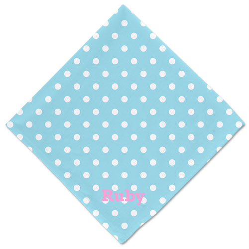 Polka Dot Custom Name Dog Bandanas, 20 Inch