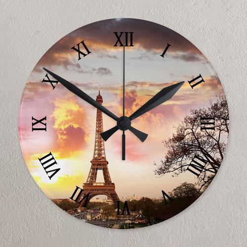 Photo Gallery Roman Face Photo Acrylic Clock Custom Printed