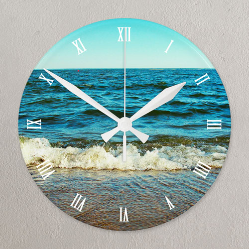Timeless Memory Personalized Acrylic Clock Custom Printed