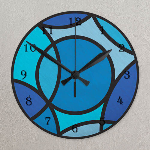 Large Numbers All Over Print Wall Clock Custom Printed