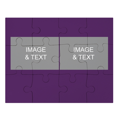 2 Photo Collage Puzzle, Purple