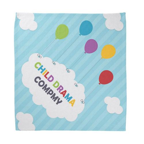 Custom Child Size Bandana With Design Artwork Full Color, 18X18 Inch