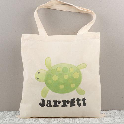 Turtle Personalized Cotton Tote Bag