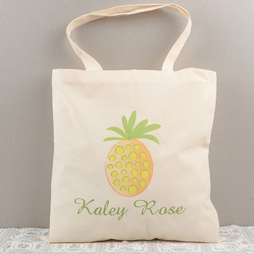 Pineapple Personalized Cotton Tote Bag