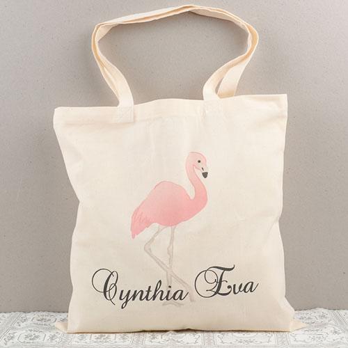 Flamingo Personalized Cotton Tote Bag