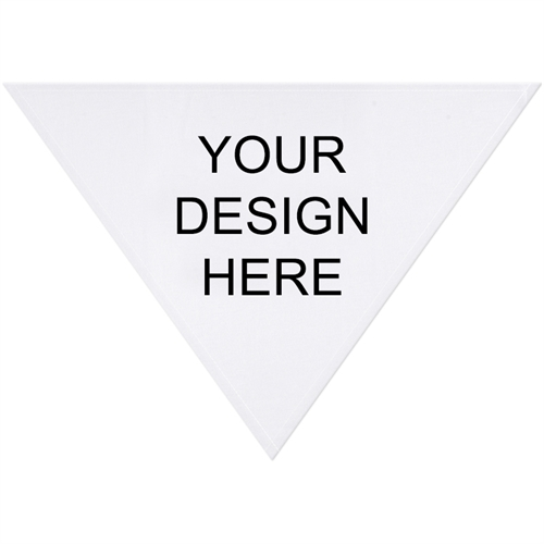 Custom Imprint Full Color Triangle Doggie Bandana, Medium 28