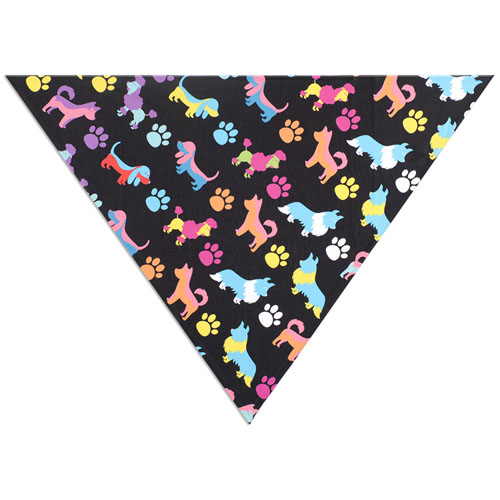 All Over Print Triangle Doggie Bandana, Medium 28