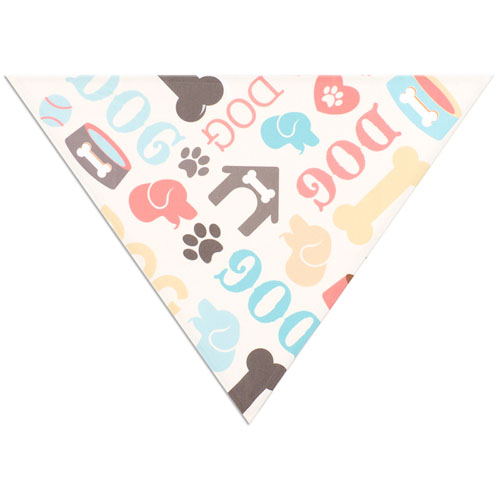 All Over Print Triangle Doggie Bandana, Small 20