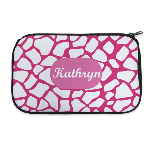 Pink Animal Pattern Personalized Cosmetic Bag