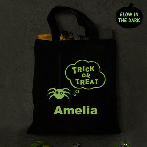 treat bag Glow In The Dark Halloween Personalized Trick or Treat Bag Halloween black -gfy878672BK trick-or-treat glow in the dark