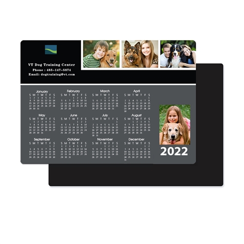 Personalized Four Collage Photo Magnet Calendar 3.5