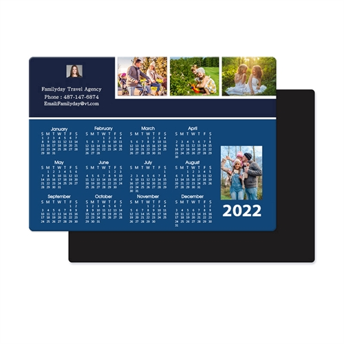 2018 Four Collage Photo Magnet Calendar 3.5