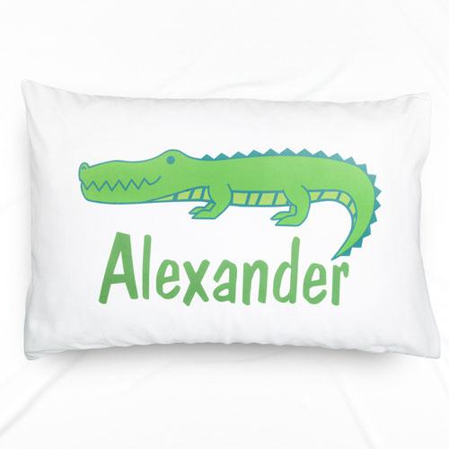 Alligator Personalized Name Pillowcase
