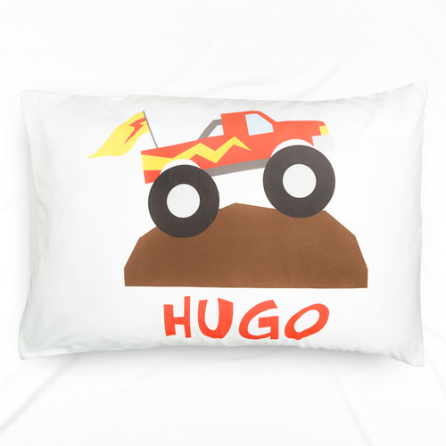 Working Truck Personalized Name Pillowcase