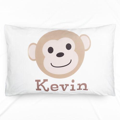 Monkey Personalized Name Pillowcase