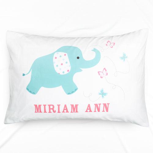 Baby Elephant Personalized Pillowcase