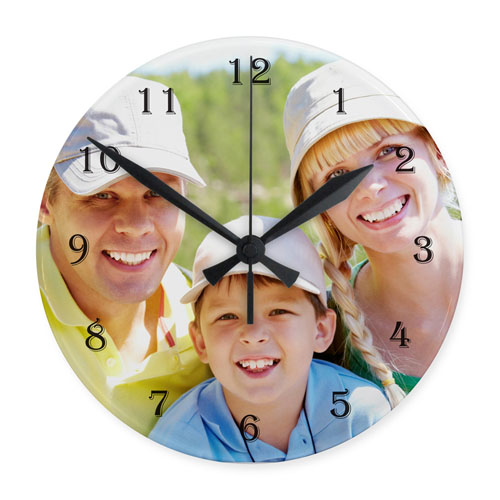 Large Numbers Personalized Frameless Large Round Clock, 10.75