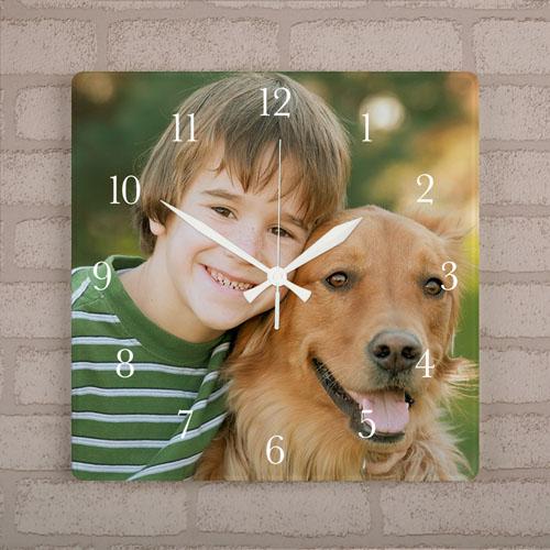 Personalized Photo Acrylic Clock Square 10.75