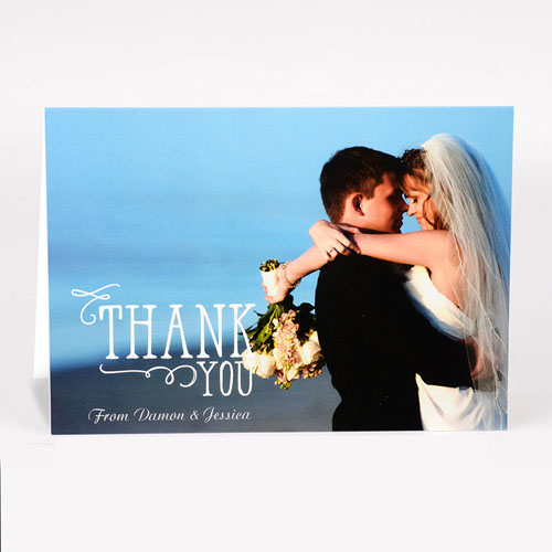 Personalized Thank You Photo Card For Wedding