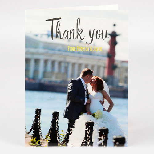 Personalized Wedding Thank You Photo Card