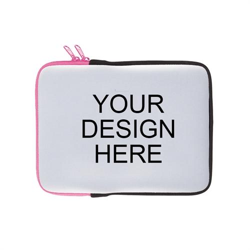 Print Your Design Ipad Sleeve Landscape Hot Pink Zipper