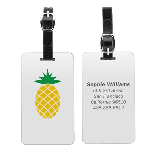 Pineapple Personalized Aluminum Luggage Tag