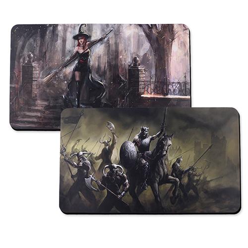 Custom Imprint 14X24 Rubber Game mat, 2-sides
