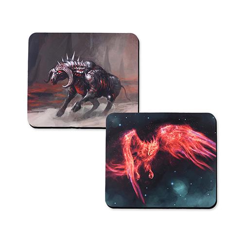 Custom Imprint 12X14 Rubber Game mat, 2-sides