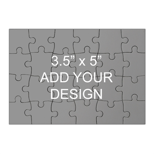 3.5 x 5  Mini Wooden Jigsaw Puzzle (Landscape, 24 pieces)