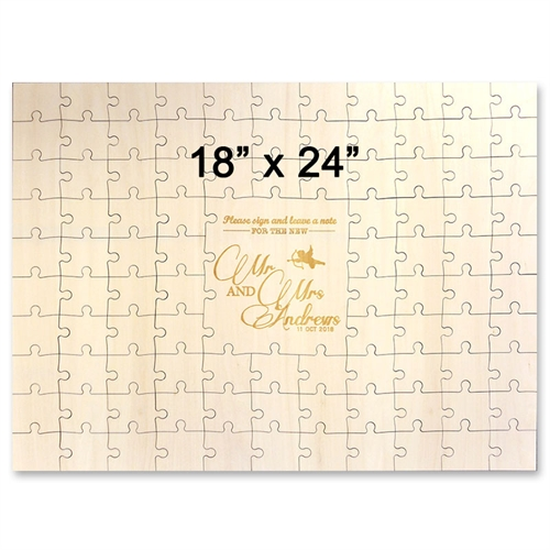 18 x 24 Engraved Guestbook Wooden Jigsaw Puzzle (99 pieces)