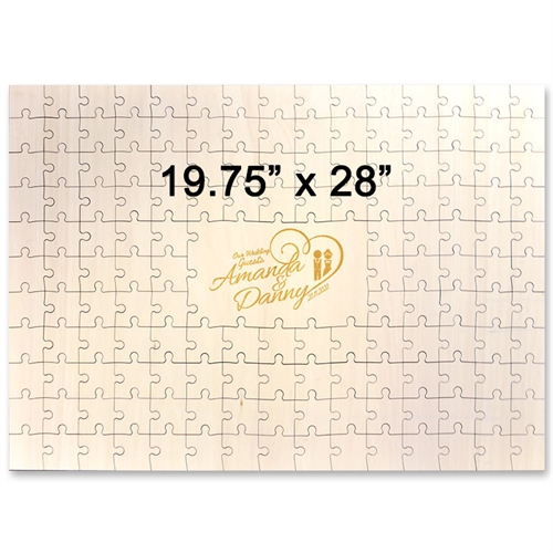 19.75 x 28 Engraved Wooden Guestbook Jigsaw Puzzle (151 pieces)