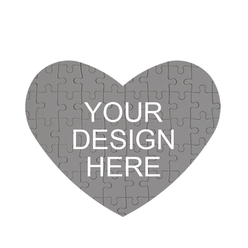 design your own heart shaped magnetic puzzle