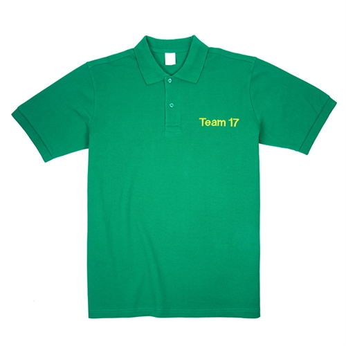 Create Your Own Embroidered Green Polo Shirt, XS