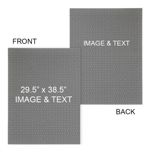 29.5 x 38.5 Personalized 2-Sided 2000 Piece Photo Puzzle - Portrait