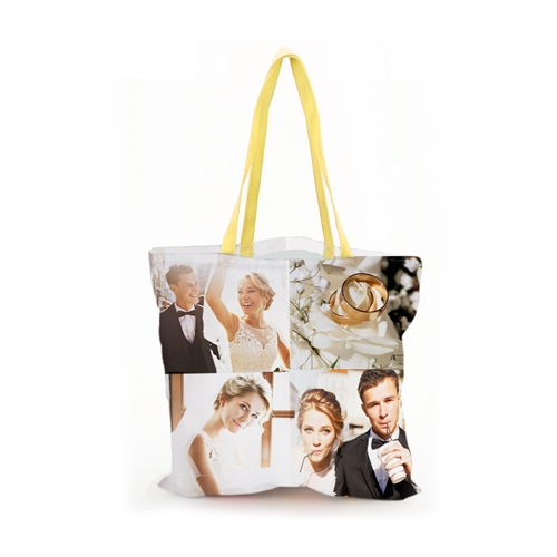 """Custom Four Collage All Over Print Tote Bag, 13"""" x 13"""""""