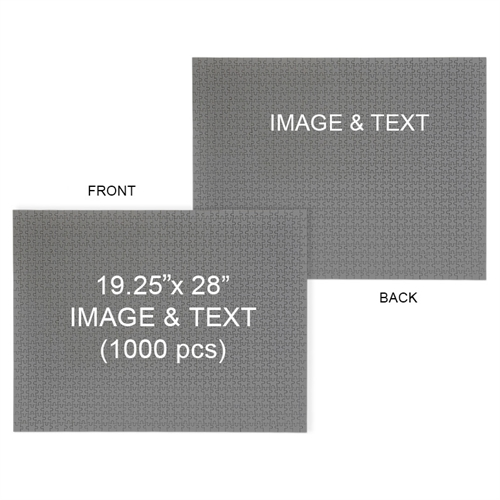 Personalized 19.25 x 28 Double-Sided 1000pcs Jigsaw Puzzles, Landscape