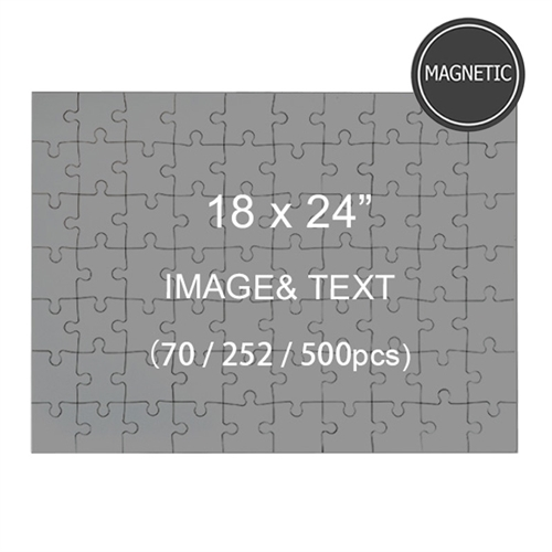 Magnetic 18 x 24 Jigsaw Puzzles, Landscape (70 or 252 or 500 pcs)