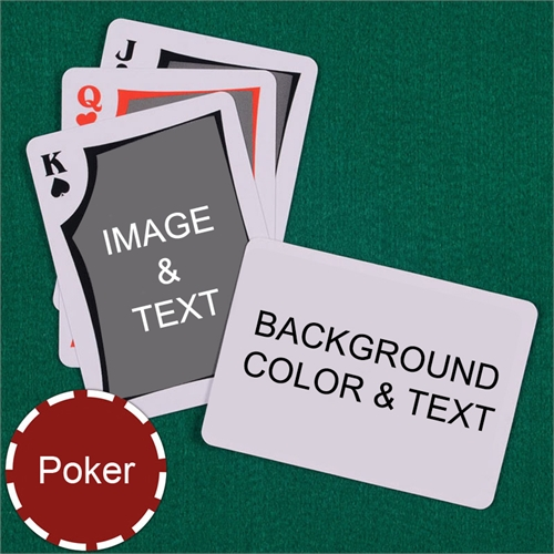 My Own Poker Modern Custom 2 Side Landscape Message Playing Cards