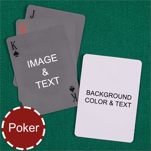 My Own Poker Simple Custom 2 Side Message Playing Cards