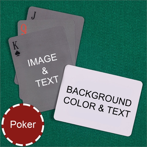 My Own Poker Simple Custom 2 Side Landscape Message Playing Cards
