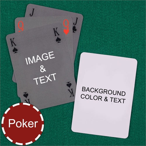 My Own Poker Simple Bridge Style Custom 2 Side Message Playing Cards