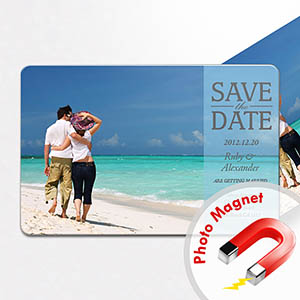 Personalized Fridge 4x6 Large Save The Date Magnets